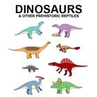 These are 25 dinosaurs (with a choice of colored or non-colored). They are drawn to scale with each other, so you can compare the sizes of the crea...
