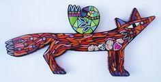 Fox and Sleeping Bird mosaic by Amanda Anderson