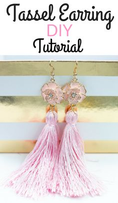 It's Bunny Time! I don't know about you, but I love sewing for Easter. Here's not one bunny sewing pattern, but 20 free sewing patterns Diy Tassel Earrings, Stud Earrings, Tassel Jewelry, Leather Earrings, Crochet Earrings, Diy Jewelry, Jewelry Making, Handmade Jewelry, Handmade Wire