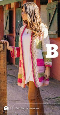 Gilet Crochet, Crochet Jumper, Crochet Coat, Crochet Jacket, Crochet Blouse, Crochet Shawl, Crochet Clothes, Crochet Baby Dress Pattern, Beautiful Crochet