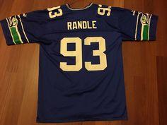 Sweet Vintage Seattle Seahawks Puma Jersey, #93 John Randle, Size L #SeattleSeahawks
