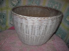 Large Round Wicker Basket /  NEW LISTING by Daysgonebytreasures, $35.00