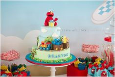 etsy 1st birthday party ideas for a boys elmo sesame | ... in this Elmo and Friends Party available in Kara's Party Ideas Shop