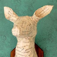 paper mache deer head