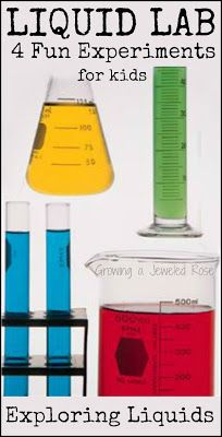 Tons of Fun Science Experiments for Kids- liquid rainbows experiment for science day