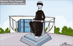 Charge do Lute sobre a morte de Teori Zavascki (20/01/2017) #Charge #Teori #TeoriZavascki #STF #Justiça #HojeEmDia