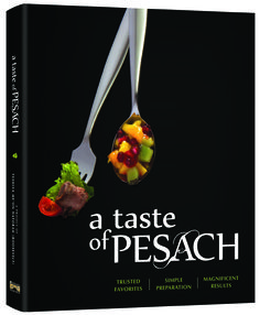 Announcing: New Passover Cookbook!
