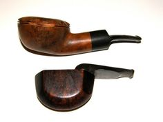 This is a nice lot of two Vintage Estate Tobacco Pipes from the 1940s.    One is a Folding Compact LHS Presto Pipe. Nice shape, marked.    One has