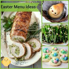 Easter Recipe roundup. Ideas for your Easter menu! #Easter #menu #recipes