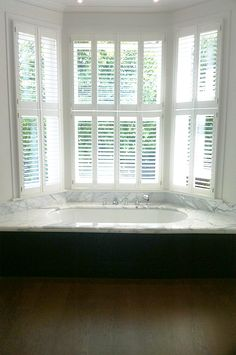 1000 images about bathroom inspiration plantation for Bathroom designs with bay windows