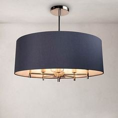 Complete with a polished nickel finish this understated five light ceiling fitting from our premium Fifth Avenue brand is designed with a circular, plain grey rolled edge shade with a silver fabric lining. Flush Ceiling Lights Uk, Lounge Ceiling Lights, Lounge Lighting, Grey Ceiling, Ceiling Light Shades, Dining Room Lighting, Bedroom Ceiling Lights, Ceiling Pendant, Ceiling Fixtures