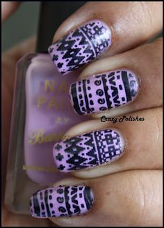 Crazy Polishes: Challenge: Day 16 - Tribal Nails