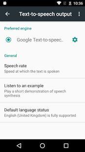 Google Text-to-speech- screenshot thumbnail