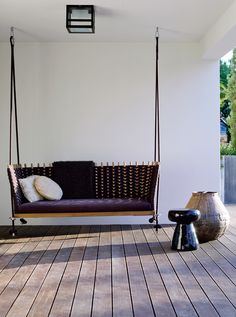 modern porch swing porch swing cushions explore and share images Patio Plans, Outdoor Decor, Decor, Interior Design, Modern Porch Swings, Outdoor Furniture, Interior, Modern Porch, Home Decor