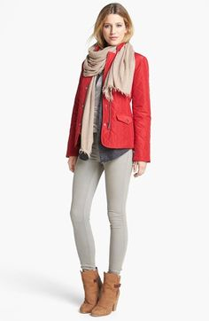 Kristen Blake Zip & Snap Front Quilted Jacket (Regular & Petite) available at #Nordstrom
