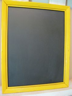 Shabby Chic Yellow - Orange Distressed Chalkboard