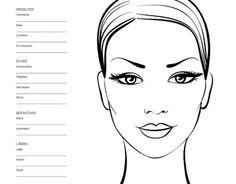 Face Templates For Makeup Artist: Face Chart Makeup Artist