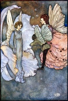 Edmund Dulac ~ She Smiled At Him ~ Fairies I Have Met by Mrs. (Maud Margaret) Rodolph Stawell ~ 1910 ~ full text via The Open Library  She smiled at him very graciously when he was introduced to her. ~ Illustration for Princess Orchid's Party