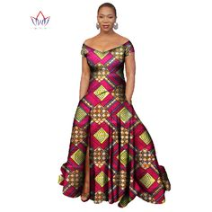 Cheap clothing for women, Buy Quality print dress directly from China dress plus Suppliers: BRW Dashiki Africa Bazin Riche Wax Print Dresses Plus Size African Clothing for Women Long Ankara Dresses Vestidos African Dresses For Women, African Print Dresses, African Print Fashion, African Attire, African Fashion Dresses, African Wear, Long Ankara Dresses, Style Africain, Ghanaian Fashion