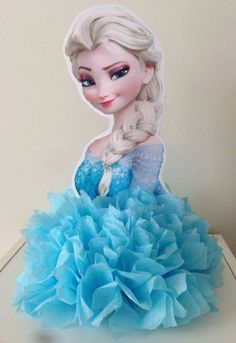 Passo a Passo ensinando a fazer um lindo centro de mesa para festa Frozen, prático e barato