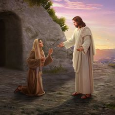 ¡Oh María no me toques aun no subo con mi Padre Aba Jesus Ressuscité, Jesus Is Risen, Jesus Resurrection, King Jesus, Jesus Loves, Jesus Artwork, Jesus Christ Painting, Pictures Of Jesus Christ, Bible Pictures
