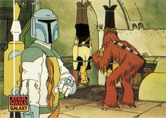 Star Wars Galaxy card featuring Boba Fett from the Star Wars Holiday Special by Paxton Holley, via Flickr