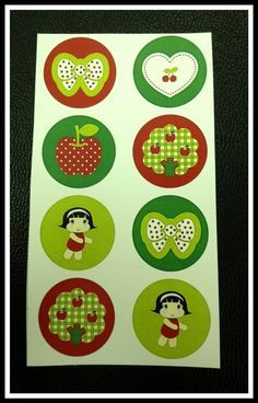 Stickers  Apple Picking by lettersminglesouls on Etsy, $1.00