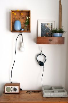 Mein Wandregal , Tags Schublade + Wandregal + Wandlampe + #DIY