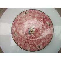 Antigo E Lindo Prato De Bolo Mauá De Trenzinho.32cm   Diâmetro  -  R$88,00
