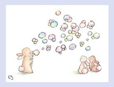 Impresión del arte de los niños. Burbujas para por LoxlyHollow