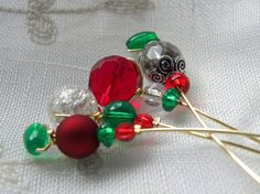 4 Christmas Wine Charms by ThereIsNoOneLikeYou on Etsy, $6.00