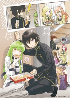 Code Geass - C.C. and her pizza