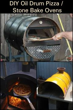 Turn an oil drum barrel into a pizza oven! - DiY - Here's another great idea for all you pizza lovers out there! Best Picture For pizza dough recip - Pizza Oven Outdoor, Outdoor Cooking, Brick Oven Outdoor, Barbecue Four A Pizza, Barbecue Grill, Clay Pizza Oven, Build A Pizza Oven, Oven Diy, Oil Barrel