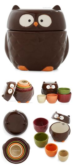 Owl measuring cup set #product_design