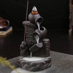 Gift Pro Incense Smoke Flow Backflow Holder Ceramic Backflow Incense Tower Burner Statue Figurine Incense Holder Incenses Not Included (Style Incense Cones, Incense Sticks, Wooden Desk Organizer, Ceramic Incense Holder, Hippy Room, Fountain Design, Little Buddha, Incense Burner, Ceramic Plates