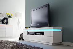 TV - Lowboard Rita III mit LED Farbwechsel Beleuchtung inklusive Fernbedienung 1 x TV- Lowboard TV Kommode mit 1 Receiverfach und 5 Schubkästen...