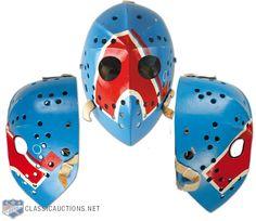 1970s Jacques Plante Nordiques Fibrosport Goalie Mask Hockey Gear, Hockey Goalie, Hockey Games, Hockey Players, Ice Hockey, Nhl, Quebec Nordiques, Goalie Mask, Masked Man