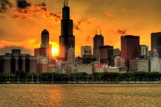 Chicago city skyline: a sunset | Jeff Barry | Flickr