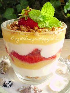 Az otthon ízei: Epres-joghurtos pohárkrém lemon curddal