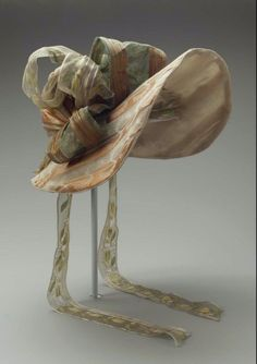 Bonnet ca. 1830 via The Museum of Fine Arts, Boston