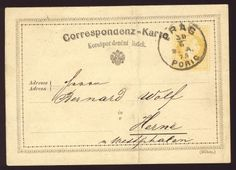 Ceskoslovenska postcard with an unclear Poric cancellation