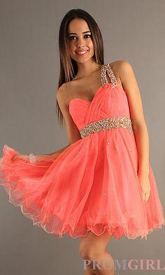 0f1b2ebb917 One Shoulder Lime Beaded Dress by Dave Orange Shorts, Homecoming Dresses,  Debutante Dresses,