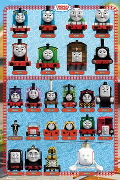 Thomas the Tank Engine Thomas and Friends Characters - Official Poster. Official Merchandise. Size: 61cm x 91.5cm. FREE SHIPPING