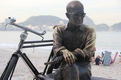 Carlos Drummond de Andrade Cycle Chic.  via  Rio de Janeiro Cycle Chic