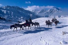Snow in the mountains of Logar, Afghanistan.