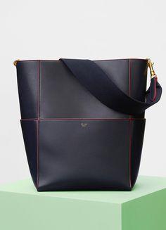 Sangle Shoulder Bag in Shiny Smooth Calfskin - Céline