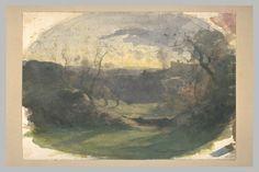 François-Auguste Ravier (1814-1895) Crémieu vu de Champrofond, aquarelle et mine de plomb, 28,3 x 40,5 cm, Musée du Louvre, Département des Arts Graphiques à Paris.