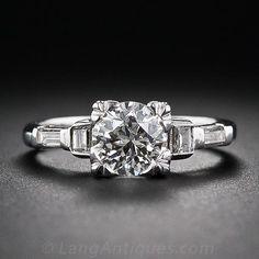 1.10 Carat Mid-Century Diamond Engagement Ring - 10-1-5832 - Lang Antiques