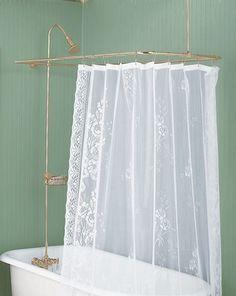 Captivating Shower Surround Bright Brass Rectangular U0026 Braces Only