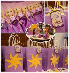 From the cute braided Rapunzel hair decor to the darling Tangled themed desserts and sweets, this party is sure to delight any fan of the movie Tangled!